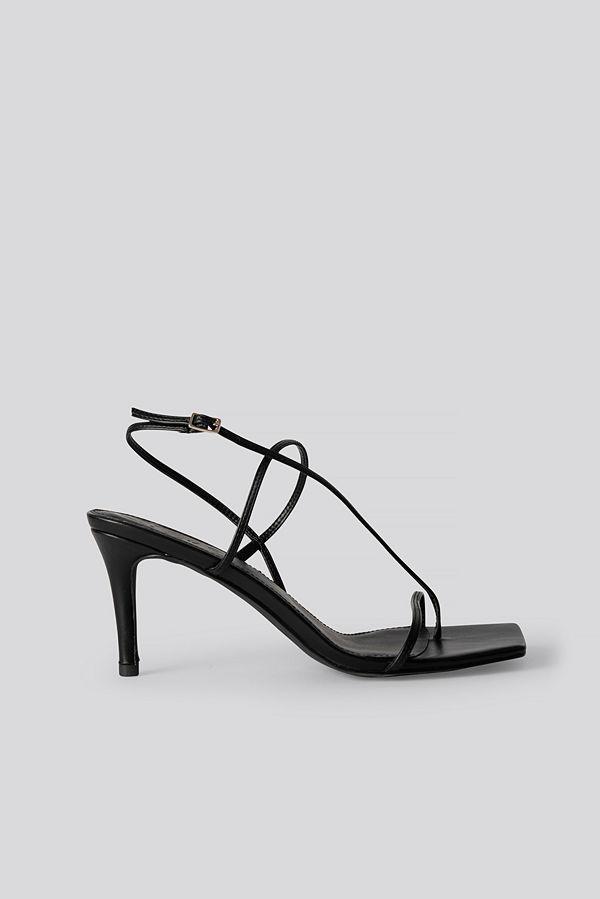 NA-KD Shoes Strappy Stiletto Sandals svart
