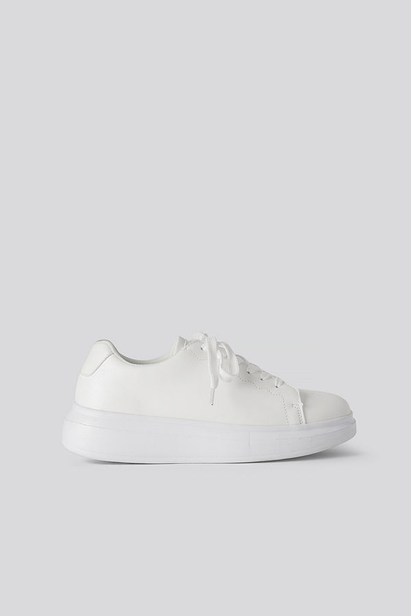 NA-KD Shoes Basic Court Trainers vit