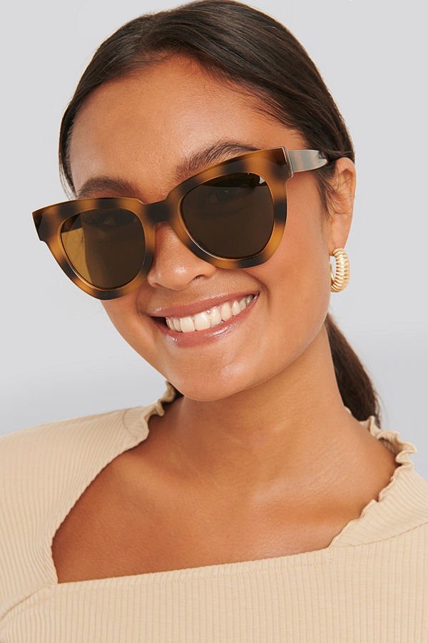 NA-KD Accessories Oversize Chunky Cateye Sunglasses brun