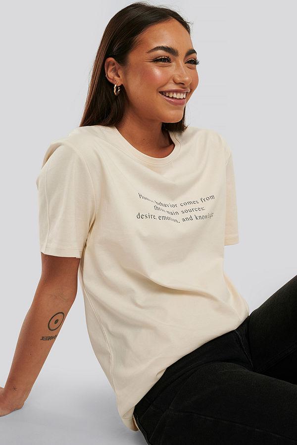 NA-KD Oversize T-Shirt beige