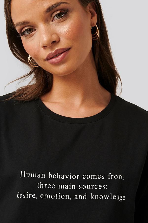 NA-KD Oversize T-Shirt svart