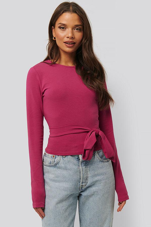 NA-KD Jersey-Topp rosa