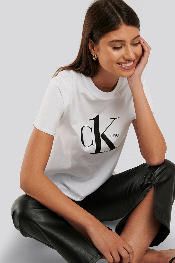 Calvin Klein T-Shirt Med Logga vit