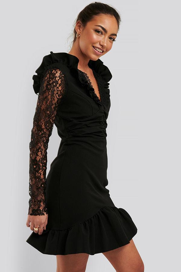 Trendyol Miniklänning I Spets svart