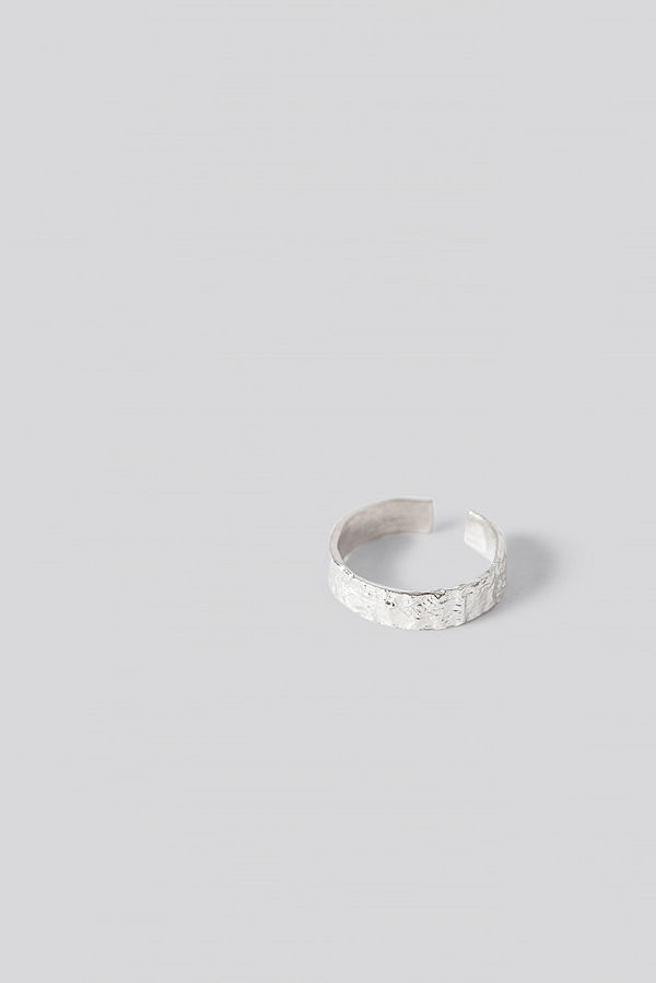 NA-KD Accessories smycke Sterling Silver Structured Ring silver