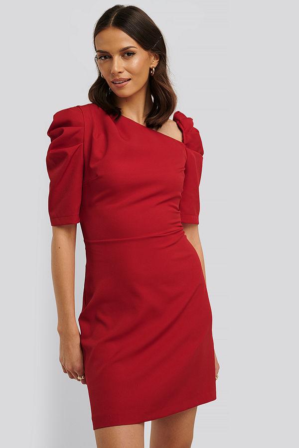 Trendyol Asymmetrisk Miniklänning röd