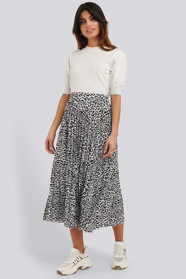 NA-KD Midi Pleated Skirt multicolor