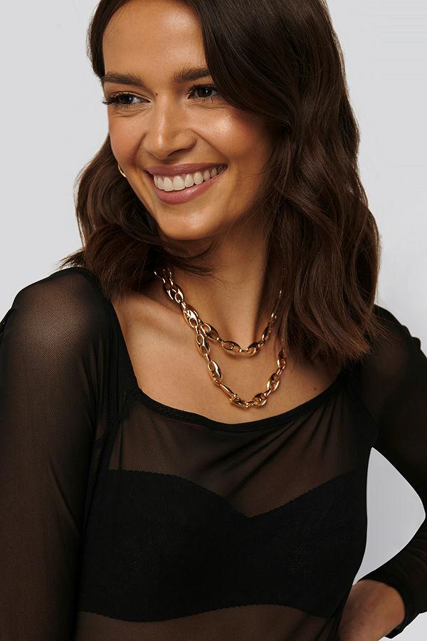 Mango smycke Halsband guld