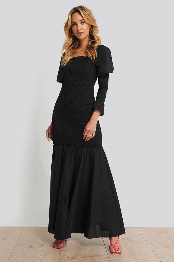 maxi klänning långärmad