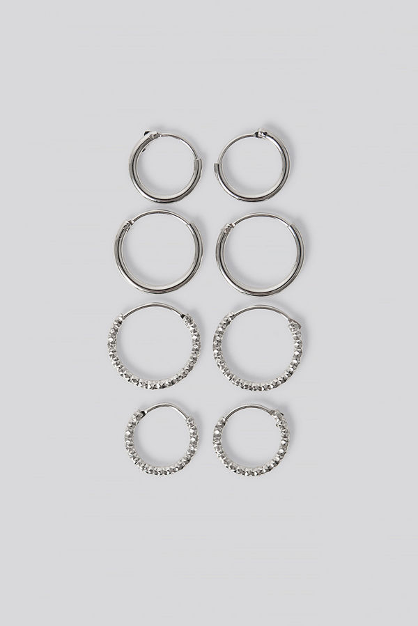 NA-KD Accessories smycke Mini Hoop Earring Set silver