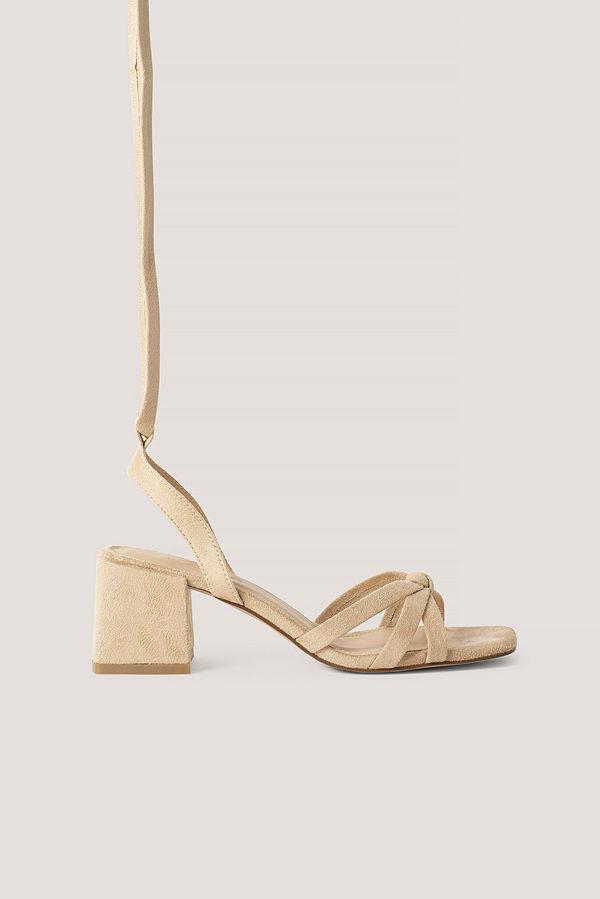 NA-KD Shoes Högklackade Sandaler beige