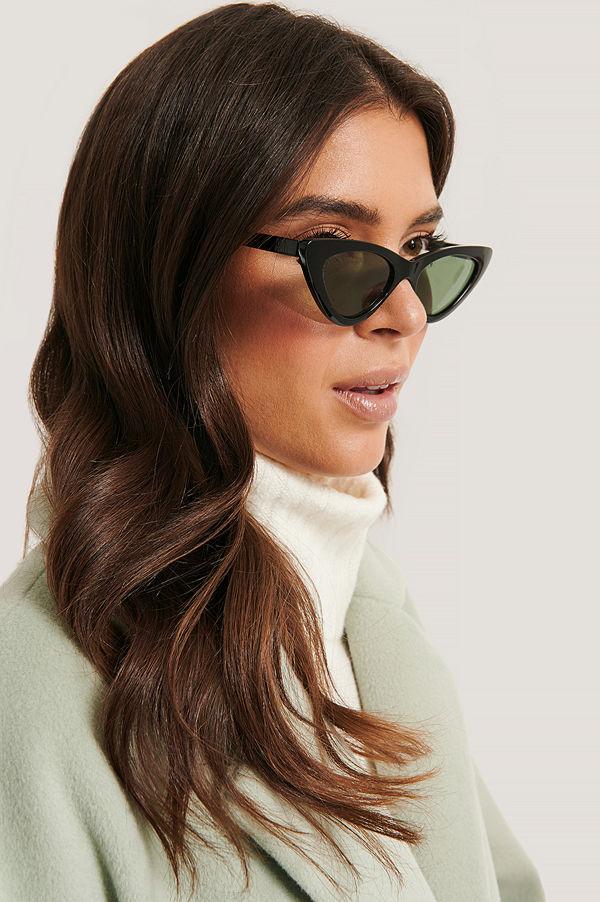 Basma & Merna x NA-KD Cat Eye-Solglasögon svart