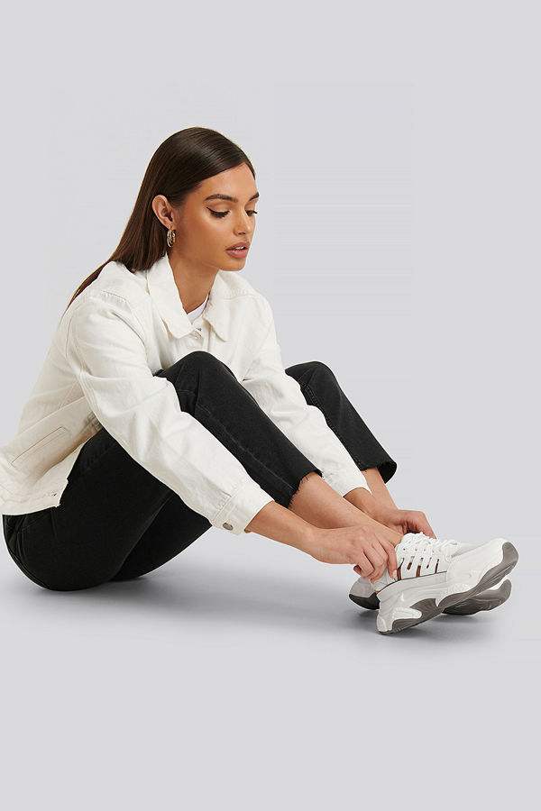 NA-KD Shoes Cut Out Chunky Trainers vit