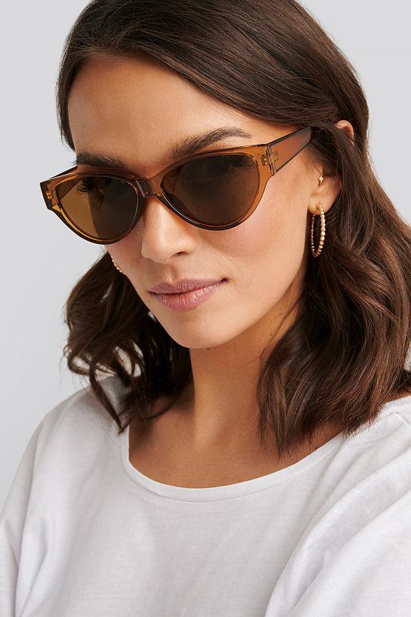 NA-KD Accessories Drop Shaped Cateye Sunglasses brun
