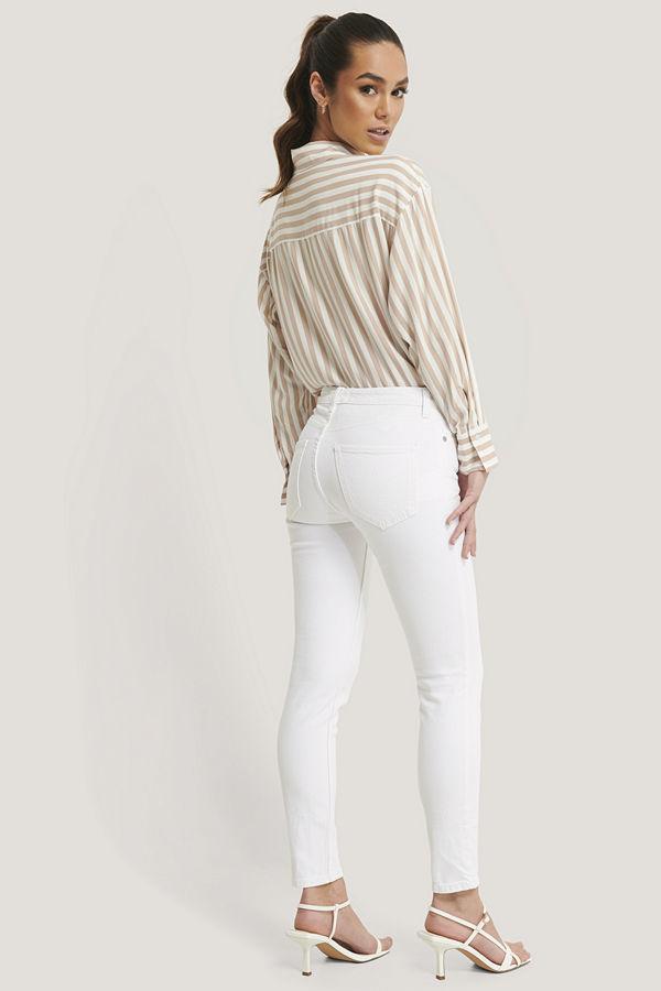 Mango Skinny Fit Jeans vit