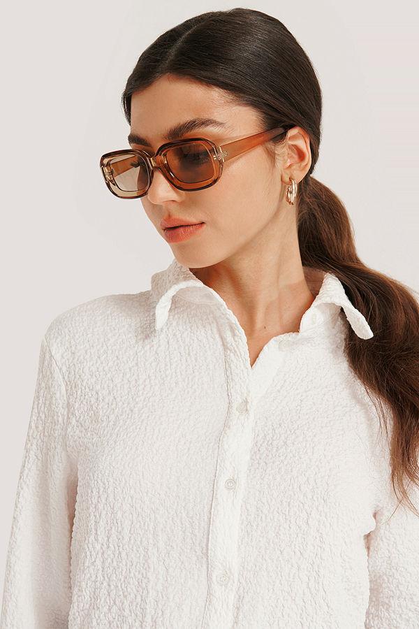 NA-KD Accessories Retro Solglasögon brun