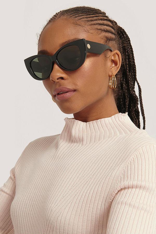 Le Specs Cat Eye-Solglasögon svart