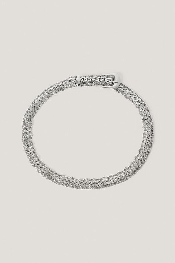 NA-KD Accessories Bälte Med Spänne silver