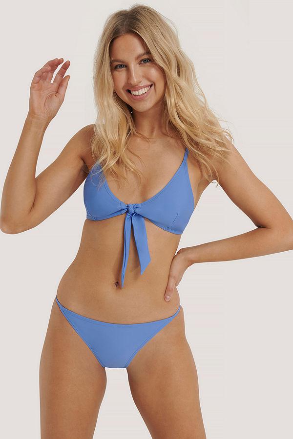 NA-KD Swimwear Bikinitrosor Med Tunna Band blå