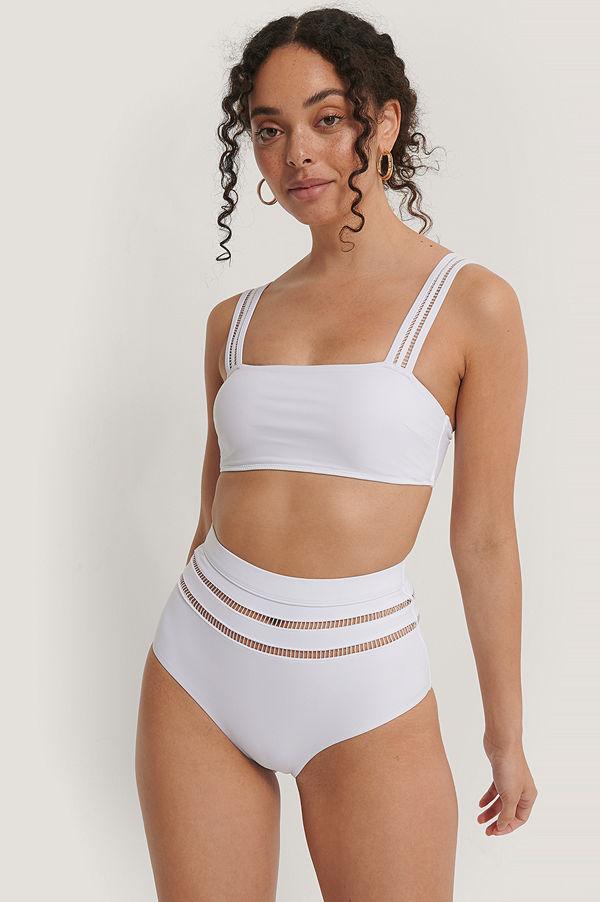 NA-KD Swimwear Bikiniunderdel vit