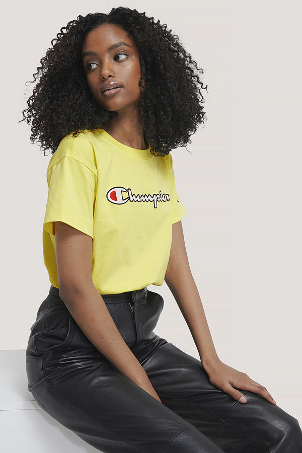 Champion Crewneck T-Shirt gul