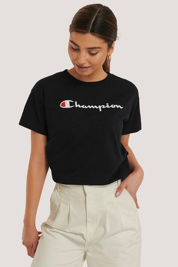 Champion Crewneck T-Shirt svart