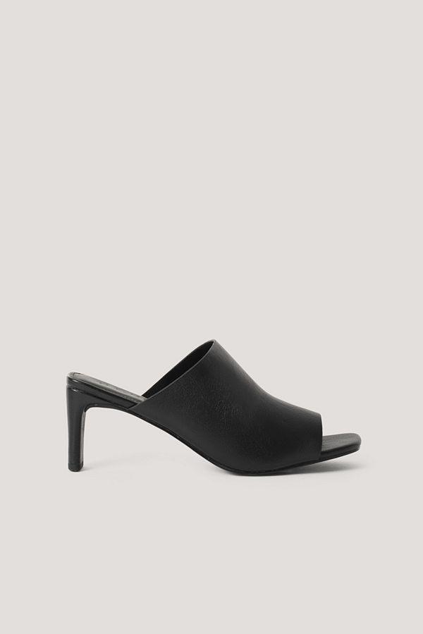 NA-KD Shoes Mules Med Fyrkantig Klack svart