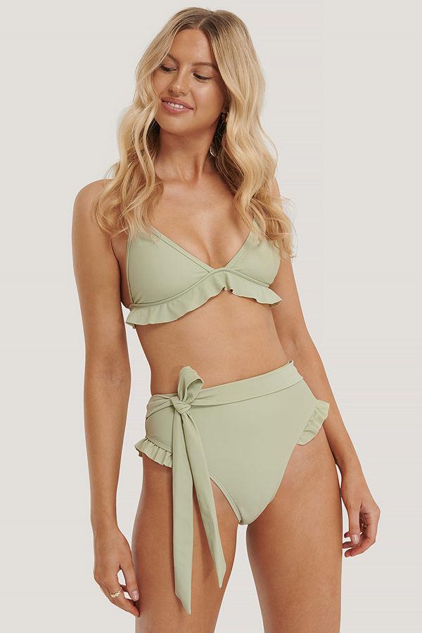 NA-KD Swimwear Bikinitrosa Med Hög Midja grön