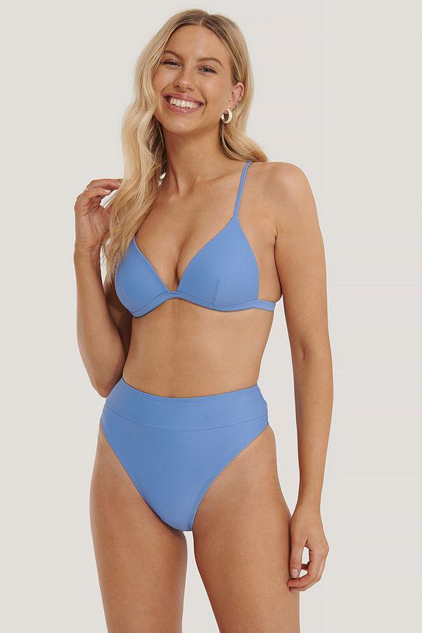NA-KD Swimwear Maxi Highwaist Bikini Panty blå