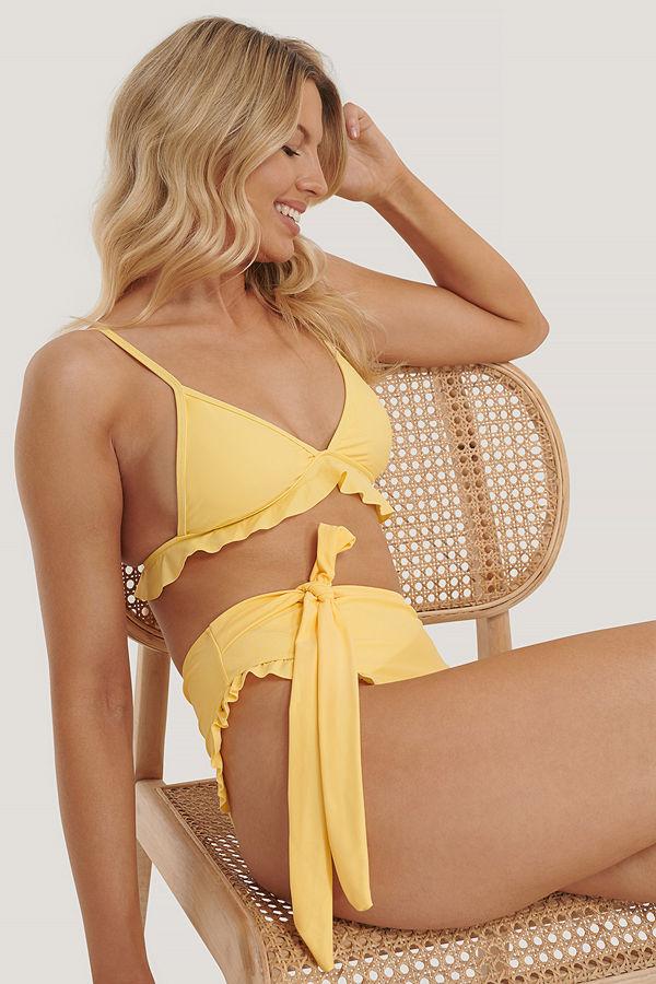 NA-KD Swimwear Bikinitrosa Med Hög Midja gul