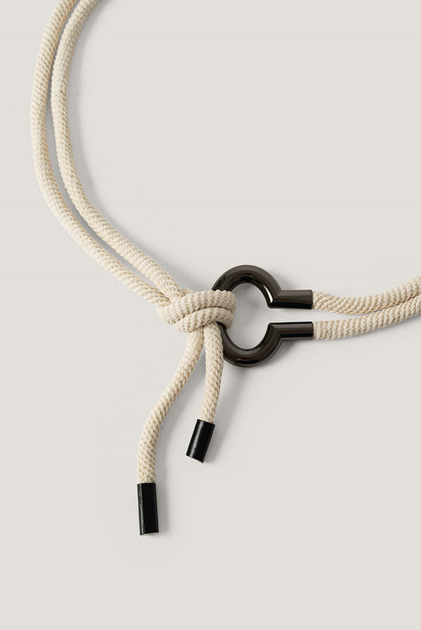 NA-KD Accessories Repbälte Med Metalldetalj beige