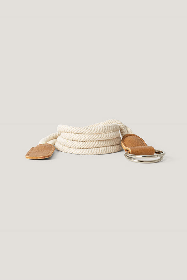 NA-KD Accessories Repbälte Med Ringstängning beige