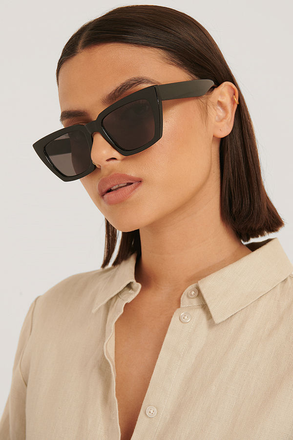 NA-KD Accessories Basic Fyrkantiga Solglasögon svart