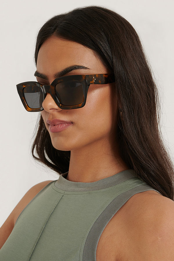 NA-KD Accessories Square Frame Sunglasses brun