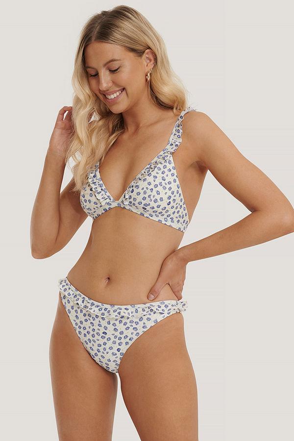 NA-KD Swimwear Bikinitrosor Med Rynkad Kant multicolor