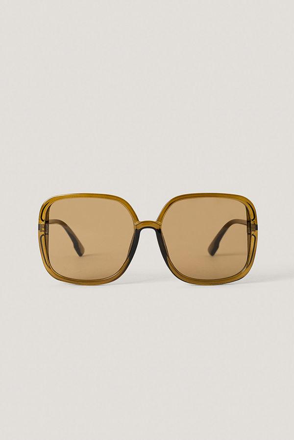 NA-KD Accessories Oversize Fyrkantiga Retro Solglasögon brun