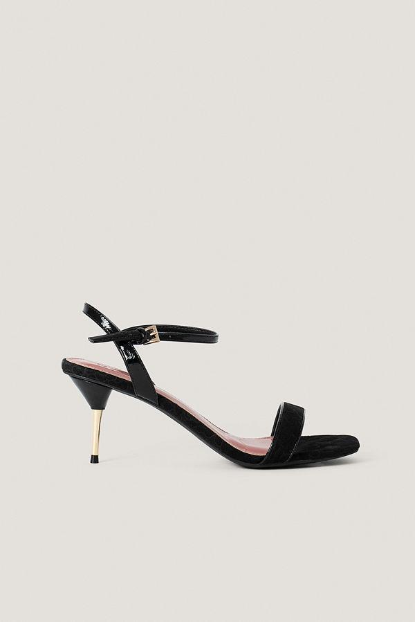 NA-KD Shoes Stilettklackar Med Vristrem svart