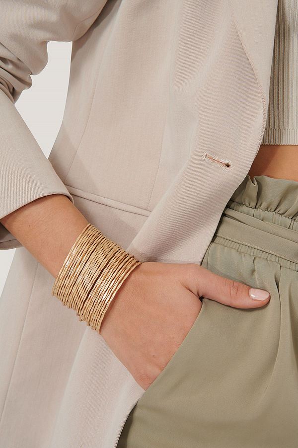NA-KD Accessories smycke Armband Med Tunna Ringar I Flera Lager guld