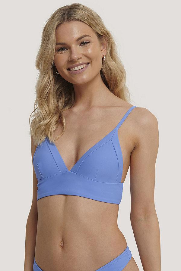 NA-KD Swimwear Framed Bikini Bralette blå
