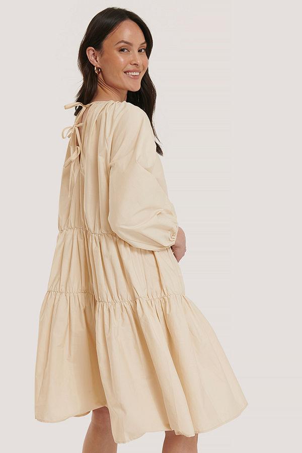 NA-KD Trend Oversized Klänning beige