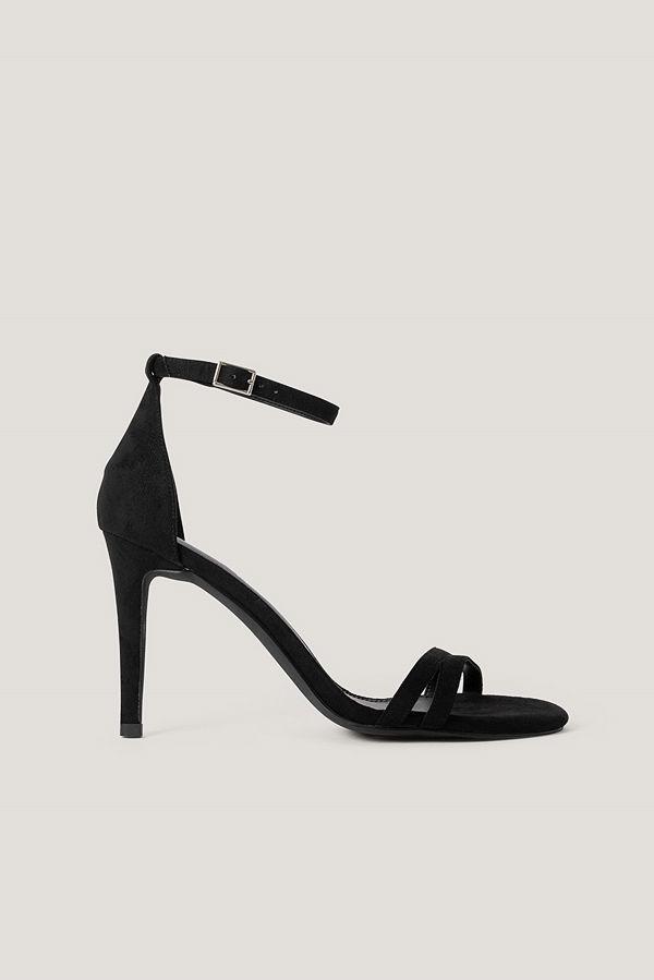 NA-KD Shoes Högklackade Sandaler svart