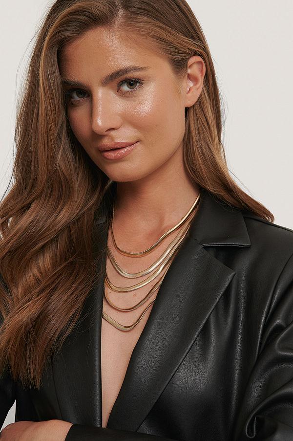 NA-KD Accessories smycke Halsband Med Flera Kedjor guld