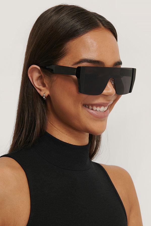NA-KD Accessories Solglasögon Med Fyrkantiga Glas svart