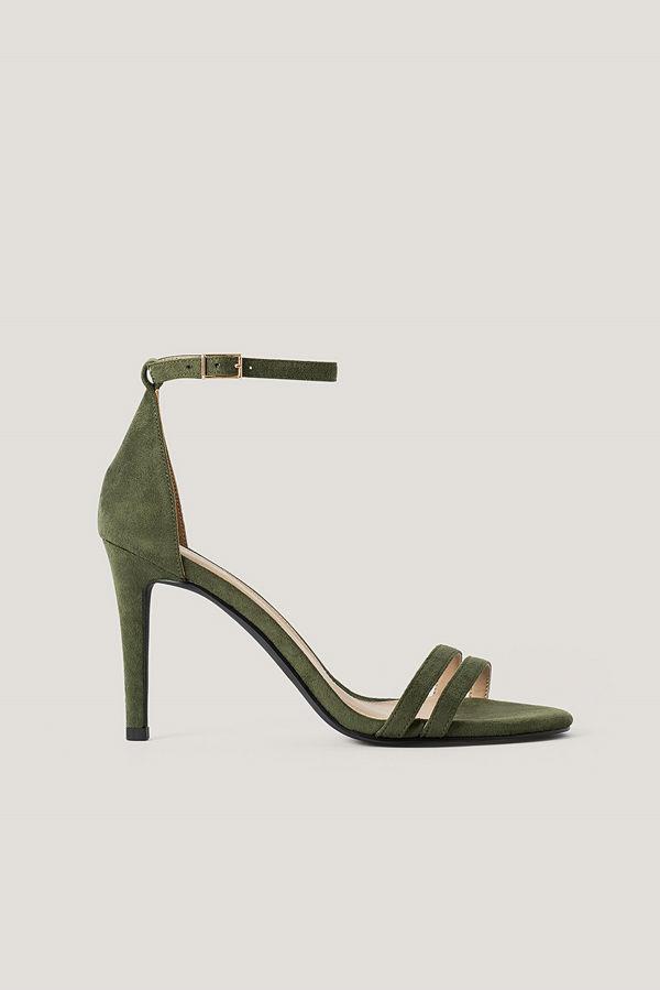 NA-KD Shoes Högklackade Sandaler grön