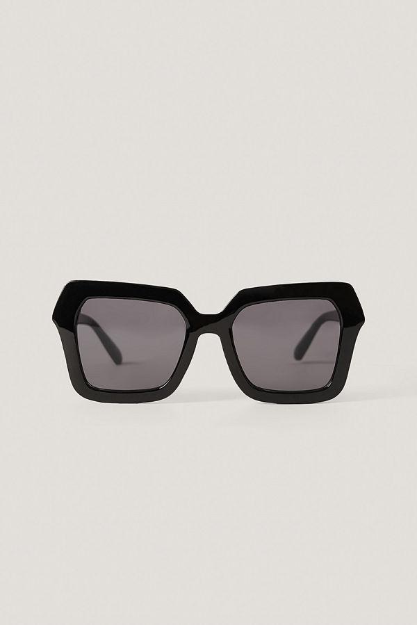 NA-KD Accessories Oversize Fyrkantiga Retrosolglasögon svart