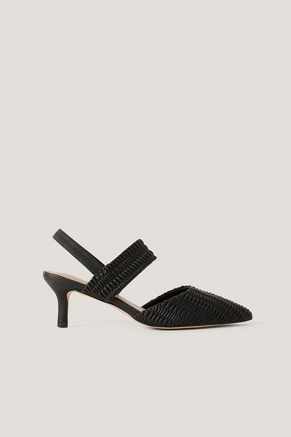 NA-KD Shoes Sling-Back Pumps Med Rysch svart