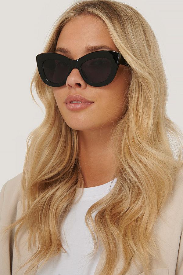 NA-KD Accessories Oversize Rundade Cateye-Solglasögon svart