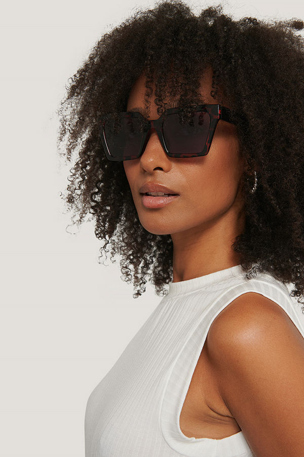 Corlin Eyewear Solglasögon Med Fyrkantiga Bågar brun