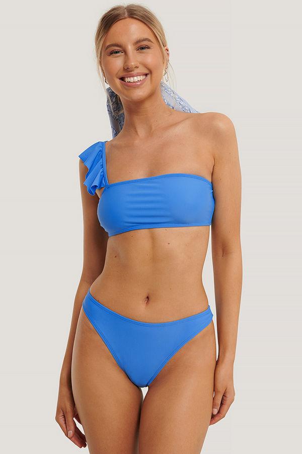 NA-KD Swimwear Högt Skuren Bikinitrosa blå