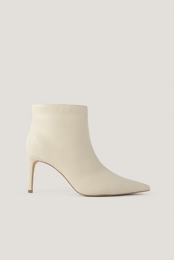 NA-KD Shoes Smala, Spetsiga Stilettboots nude